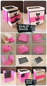 diy makeup storage box