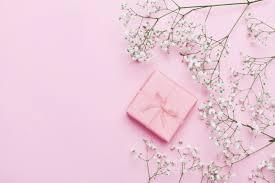 Bunga Latar Belakang Hadiah Pink Cantik Romantis