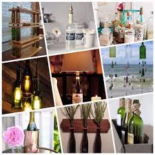 a variety of ingenius diy wine bottle crafts