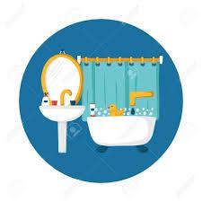 cartoon bathroom sink and mirror.  And Cute Cartoon Bathroom Concept Bath Duck Toothpaste Sink Creams Mirror On Cartoon Bathroom Sink And Mirror