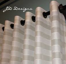 extra long shower curtain 114x91 stripe sheer cream white jd designs