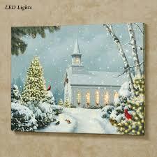 Lighted Christmas Artwork Incredible Decoration Lighted Canvas Wall Art Christmas