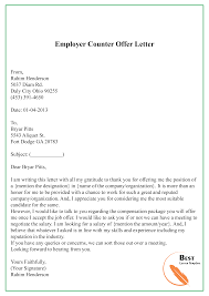 Example Of Counter Offer 004 Counter Offer Letter Template Ideas Employer Awful
