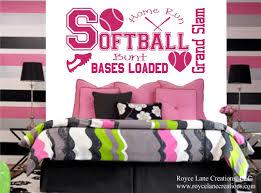 Softball Bedroom Softball Wall Decal For Girls Room B33 Teen Girl Bedroom Teen