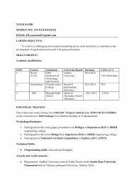 B Tech Civil Engineer Resume Format For Freshers Download
