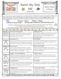 Summer Camp Daily Schedule Template Summer Camp Schedule Template Blank Blank Calendar Template