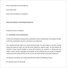 leave disciplinary termination notice period letter word format how to write a termination letter to an employer