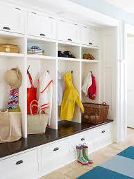 Beadboard Entryway Coat Rack Mud Room Design Cottage laundry room BHG 98