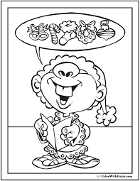 Christmas Elf Coloring Pages Printable At Getdrawingscom Free For