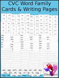 Round Up of Free CVC Word Family Cards & Writing Practice | 3 ...