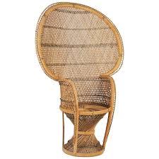 large vintage bohemian 1970s wicker emmanuel pea chair for