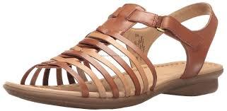 men s naturalizer leather sandals brown flip flops wowade open toe strappy naturalizer footwear style