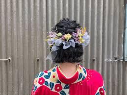 卒業式袴姿には黒髪人気の髪型をご紹介 着物のブログ