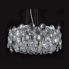 period pendant lighting uk. impex lighting raina crystal and chrome pendant light - from period property store uk uk e