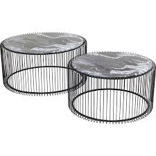 black contemporary round coffee tables