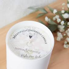anniversary gift for couple personalised candle