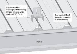dpw s corrugated mounting bridges