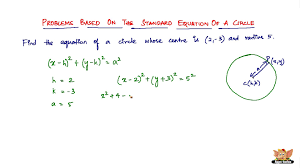 how to solve problems based on standard equation of a circle vol 1 2