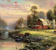 thomas kinkade painter of light 2016 deluxe wall calendar thomas kinkade 0050837343337 com books