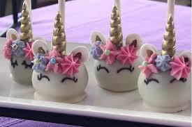 Choc En Bouche Unicorn Cake Pops