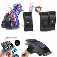 12v universal top quality power window switch kits with wiring Wiring Harness Diagram at 12 Volt Wiring Harness Kit