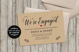 Engagement Invitation Format Beauteous We're Engaged Engagement Invitation Template Rustic Etsy