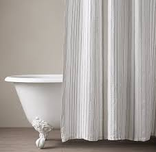bathroom cotton linen shower curtain collection rh regarding white modest 5 white linen shower curtain