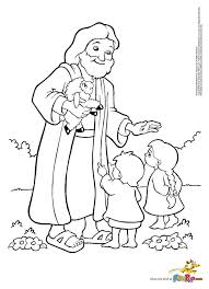 Printable Coloring Pages For Kids Jesus And Kids Coloring Page Free
