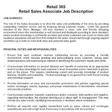 Job Description For A Retail Sales Associate Marketing Associate Job ...