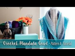 Lion Brand Mandala Yarn Patterns Simple Crochet Mandala Cowl For The Lion Brand Mandala Yarn With Link To