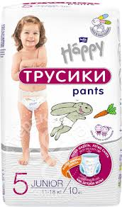 Купить <b>Подгузники</b>-<b>трусики Bella baby Happy</b> Junior 11-18кг 10шт ...