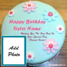 photo frame birthday cake flowers images