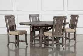 gray dining room table. Jaxon Grey 5 Piece Round Extension Dining Set W/Wood Chairs Gray Room Table E