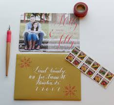 How To Address A Christmas Card Christmas Card Envelope Calligraphy