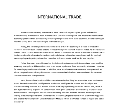 pros and cons of international trade essay essay about advantages and disadvantages of international