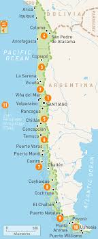 map of chile  chile regions  rough guides  rough guides