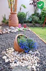 diy ideas with stone flower beds