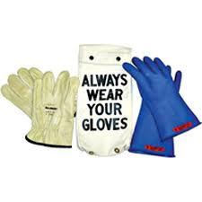 Blue Insulating Rubber Glove Kit Arc Flash Class 00