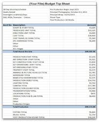 Film Budget Proposal Template Small Film Budget Format Budget