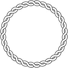Circle Border Onlinelabels Clip Art Rope Border Circle