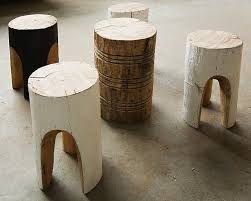 tree stump furniture. Above: Furniture Maker Greg Hatton Carves Fallen Trees By Hand And Applies Natural Finishes To Create Stools Side Tables. For More Information Tree Stump
