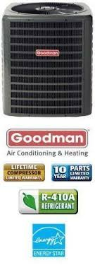 goodman 2 ton air conditioner. 5 ton 18 seer goodman air conditioner by goodman. 2 stage condenser for split systems provides efficient cooling. does not provide heating.