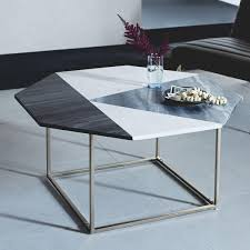 modern marquetry marble coffee table west elm uk end