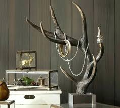 small antler elier deer rustic whitetail faux pottery barn chandelier kitchen sink nyc