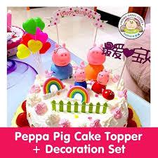 Jual Peppa Pig Figurines Set 6 Cocok Buat Cake Toppers 12595e Trendy Land Tokopedia