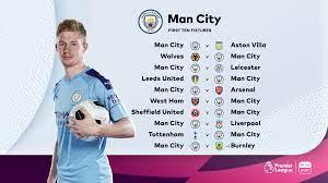 Revealed: The 2020-2021 Premier League fixtures