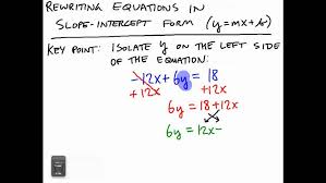 rewriting equations in slope intercept form you from two points maxresde slope intercept form form large