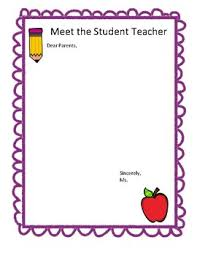 letter from teacher to parents student teacher parent letter template by msfrank2017 tpt