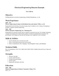 Sample Cv Of Electrical Engineer Mechanical Electrical Engineer