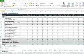Profit And Loss Statement Template In Excel Wsopfreechips Co